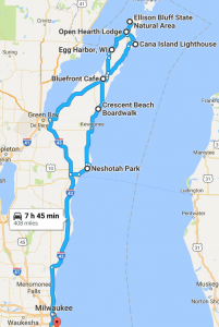 MKE to Door County Overview