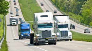 Truck-passing-on-hill