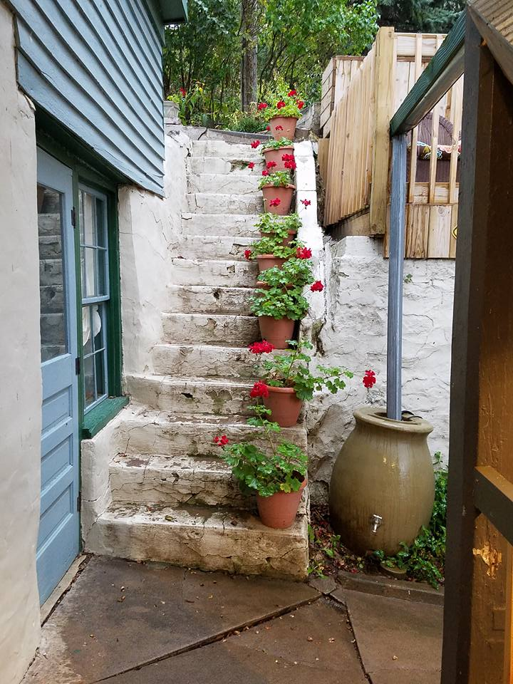 Blue Door Inn Stone Steps