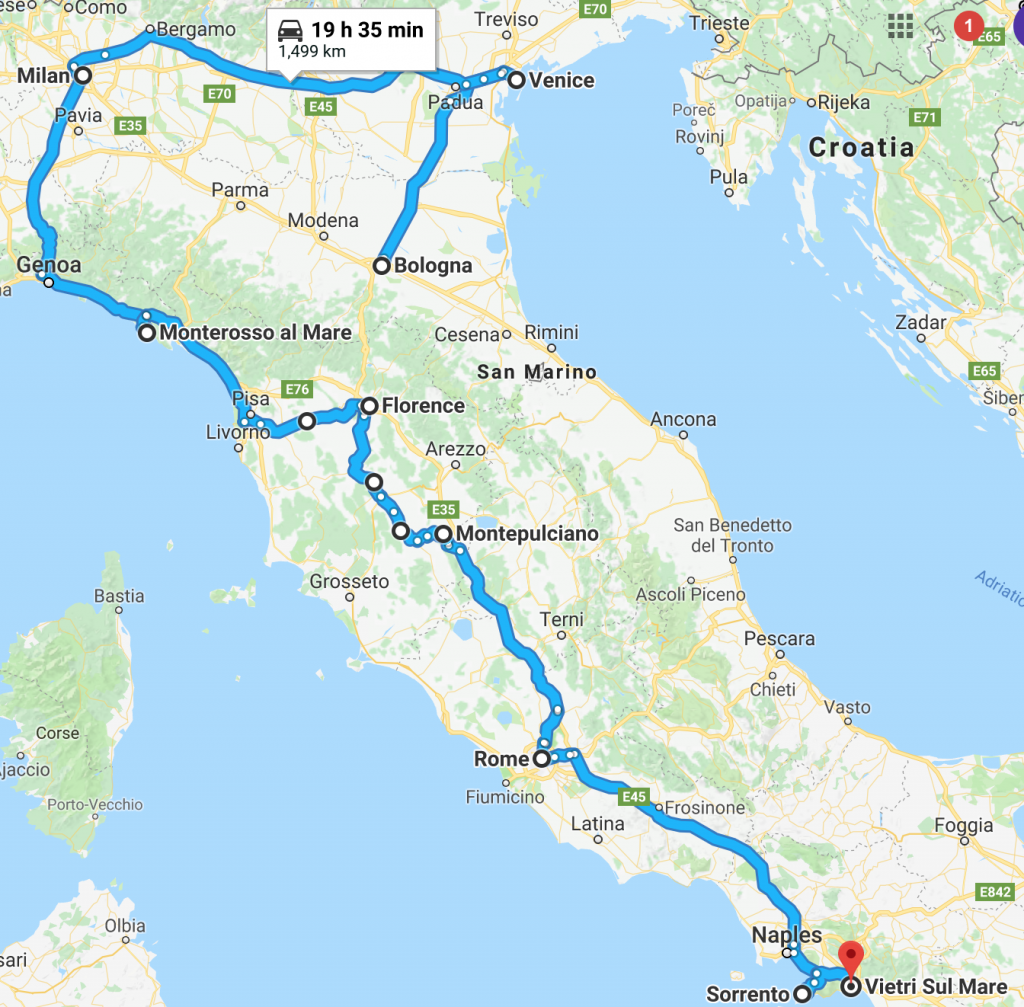 14Days_Italy_Overview_Route