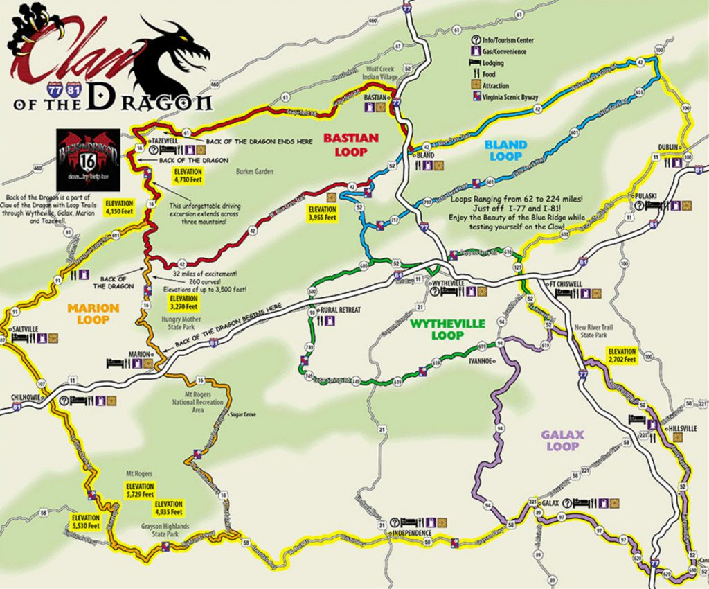 Claw of the Dragon Map