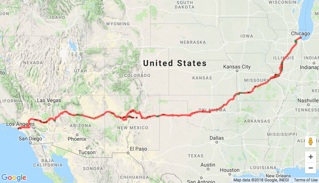 Route 66 Overview Map
